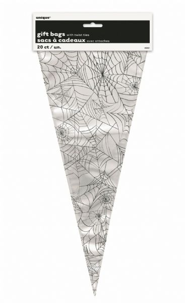 Spider Web Cone Shaped Cellophane Bags (20)
